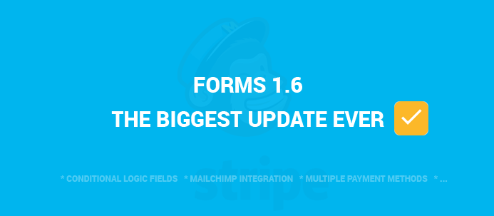 Forms Builder 1.6 Launched! The Biggest Update Ever