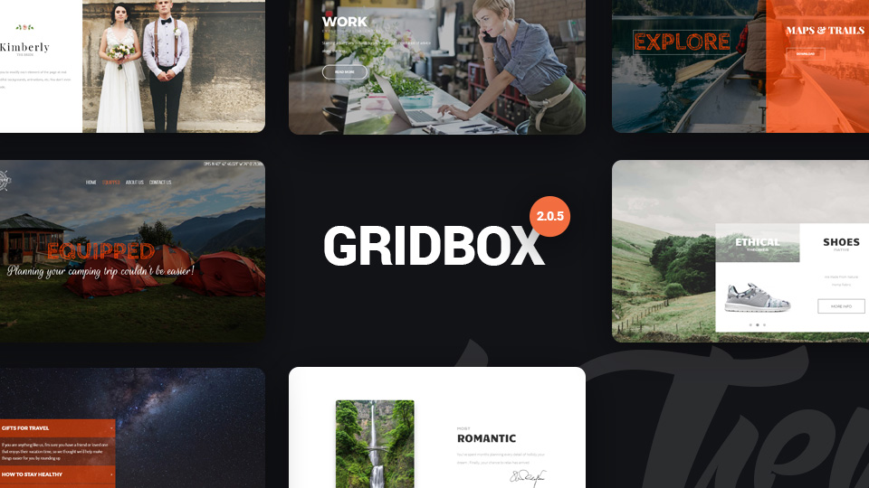 Joomla Page Builder Gridbox 2.0.5 Has Arrived with 4 Themes