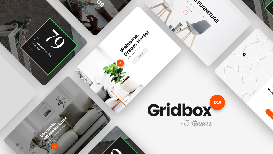 Joomla Website Builder Gridbox 2.0.6. Bug Fixes and 3 Themes!