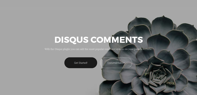 Disqus Comments for Joomla Page Builder Gridbox