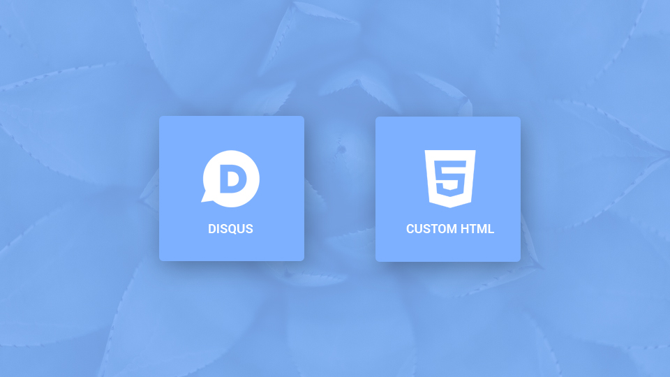 Disqus Comments and Custom HTML Plugins for Gridbox