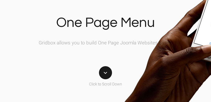 Joomla! One Page Template