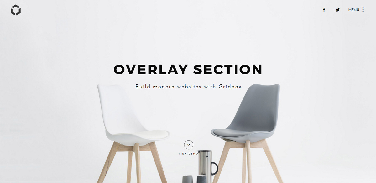 Overlay Section Plugin for Joomla Page Builder Gridbox