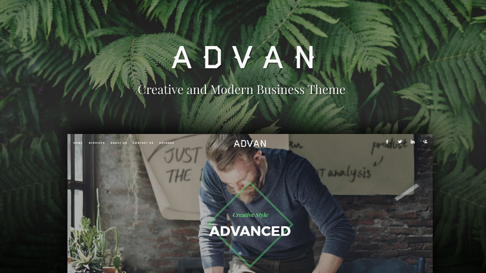 Modern and Creative Business Gridbox Theme Advan