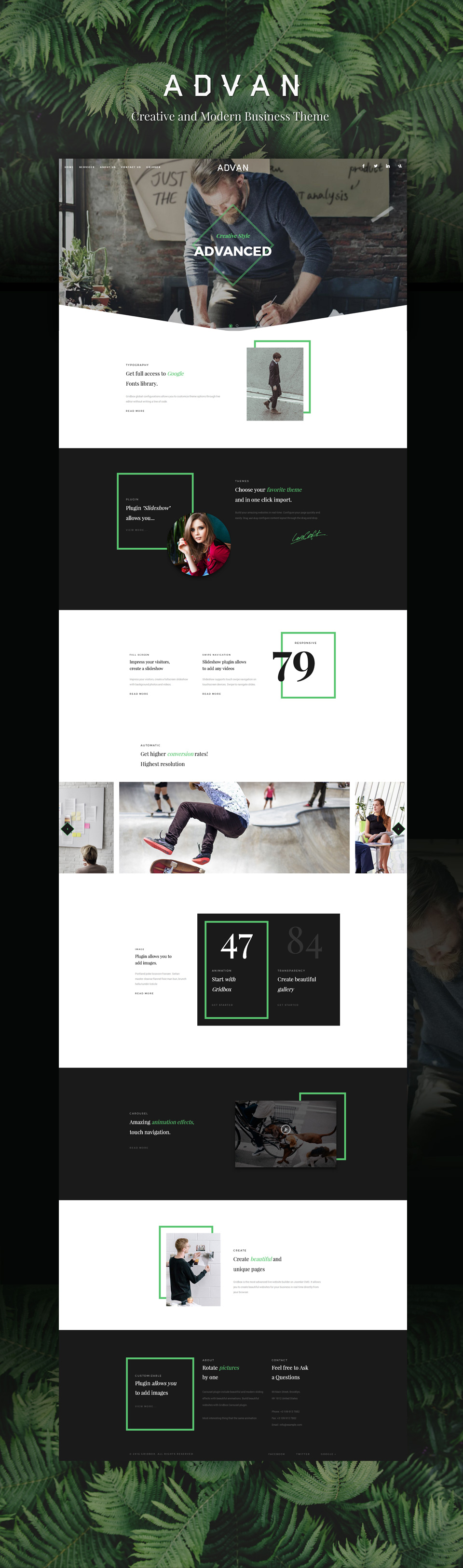 Demo - One Page Landing Page Theme HandMade