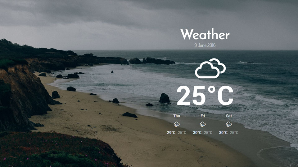 Weather Plugin for Joomla Page Builder Gridbox