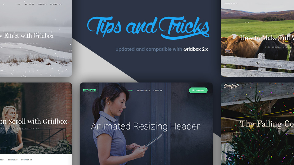 Tips & Tricks Updated and Compatible With Joomla Website Builder Gridbox 2