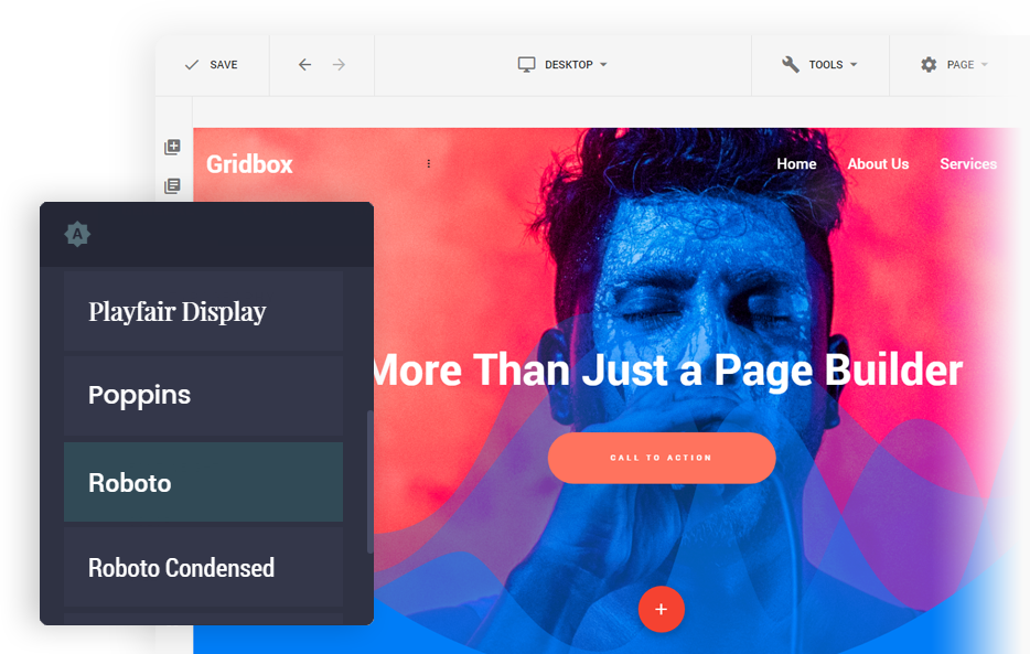 Gridbox - is a Joomla page builder extension with simple and intuitive user interface