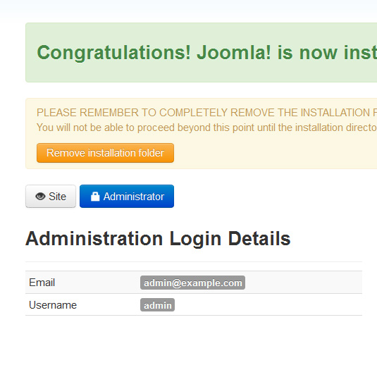 How to install Joomla! 3.x Remove Installation folder