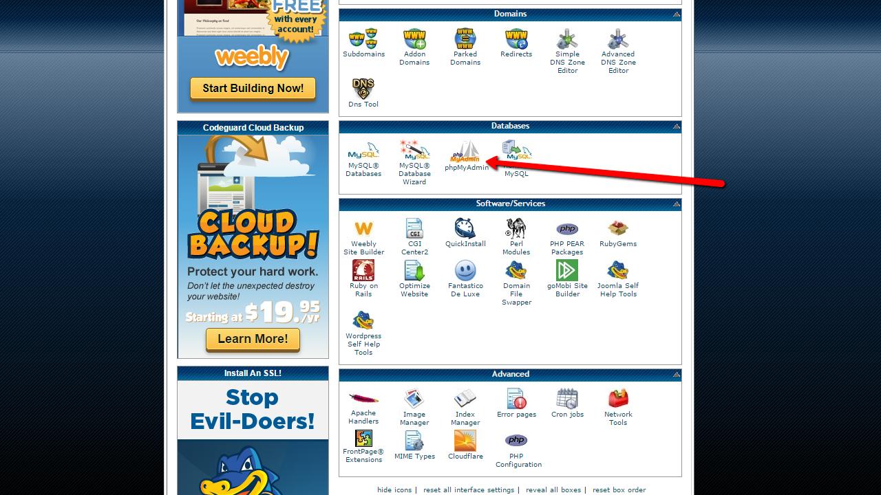 How to backup Joomla! manually? phpMyAdmin