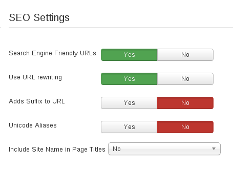 Joomla SEO tips for your website. How to Enable SEF URLs and URL Rewriting?