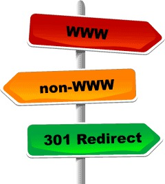 301 redirect from www to non-www.